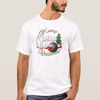 BOWLER / BOWLING MERRY CHRISTMAS T-Shirt