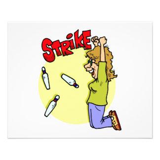bowler celebrating strike cartoon custom flyer