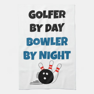 Bowler Golfer Tea Towel