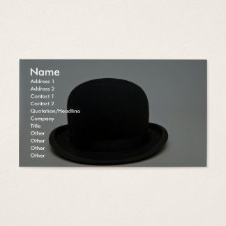 Bowler hat business card