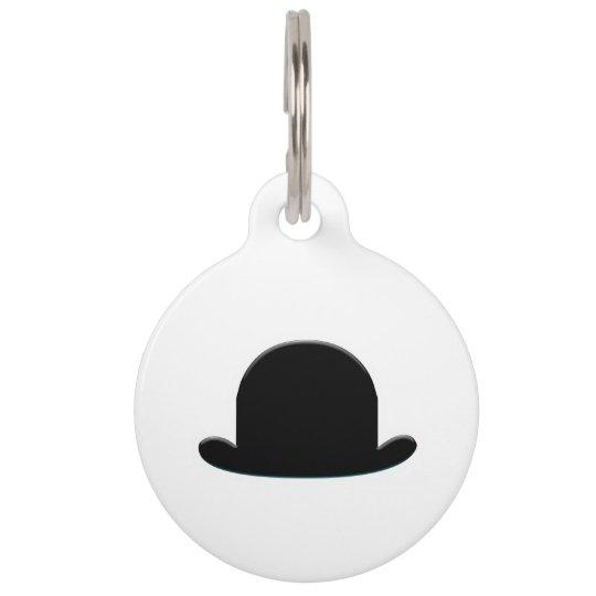 Bowler Hat Pet Name Tag
