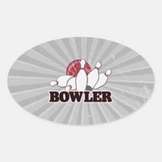 bowler oval sticker