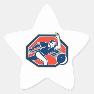 Bowler Throw Bowling Ball Retro Stickers