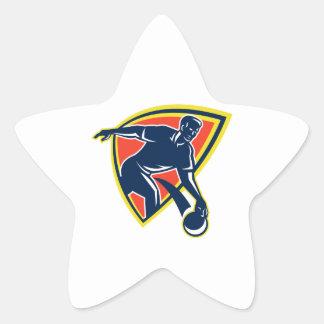 Bowler Throw Bowling Ball Shield Retro Stickers