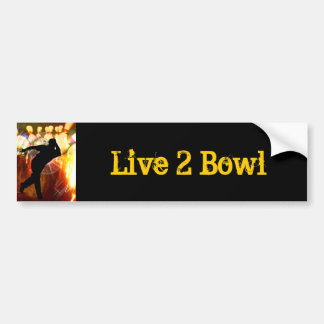 Bowler with Strike Explosion Bumper Sticker