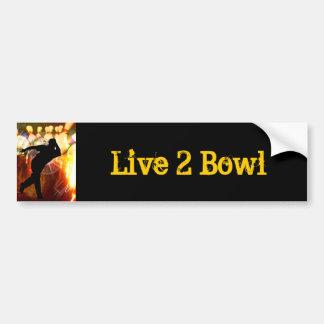 Bowler with Strike Explosion Bumper Sticker