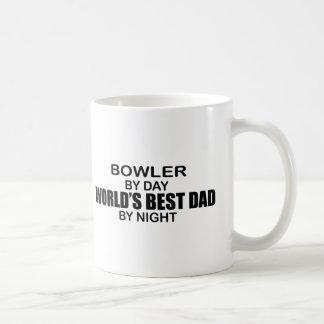 Bowler World's Best Dad by Night Basic White Mug