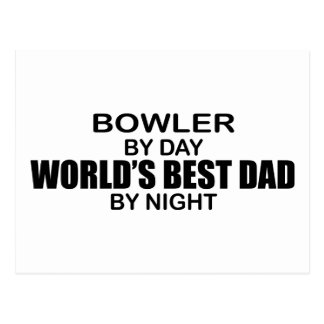 Bowler World's Best Dad by Night Postcard