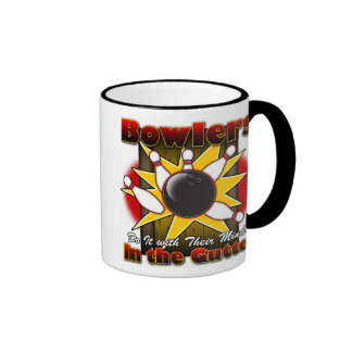 Bowlers Do It Ringer Coffee Mug