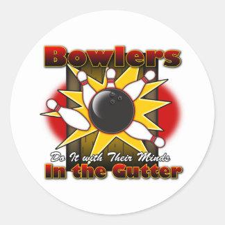 Bowlers Do It Round Sticker