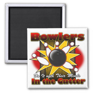 Bowlers Do It Square Magnet