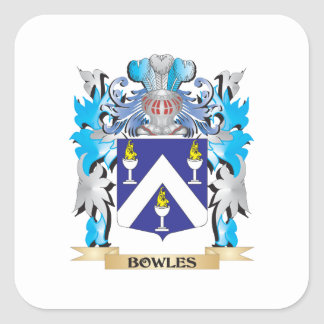 Bowles Coat of Arms Square Sticker