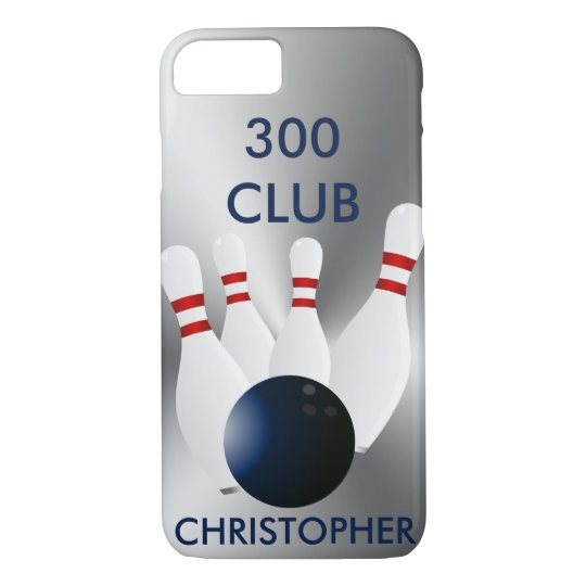 Bowling 300 Club Personalised iPhone 7 Case