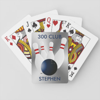 Bowling 300 Club Personalized Playing Cards