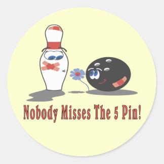 Bowling 5 Pin Stickers