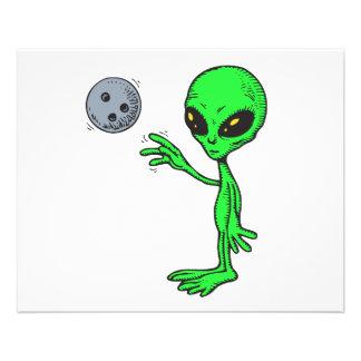 bowling alien 11.5 cm x 14 cm flyer