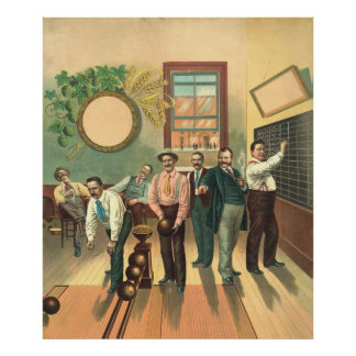 Bowling Alley 1893 Posters