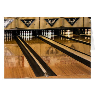 Bowling Alley Greeting Card