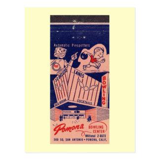 Bowling Alley, Pomona, California Vintage Post Card