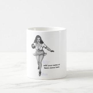 bowling babe coffee mug