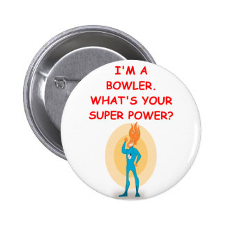 bowling 6 cm round badge