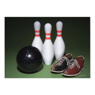 Bowling Ball 13 Cm X 18 Cm Invitation Card