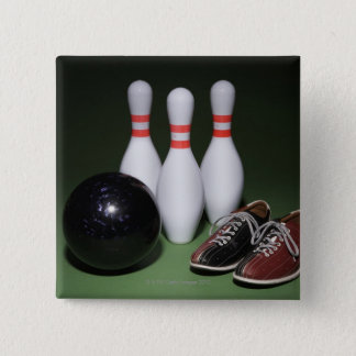 Bowling Ball 15 Cm Square Badge