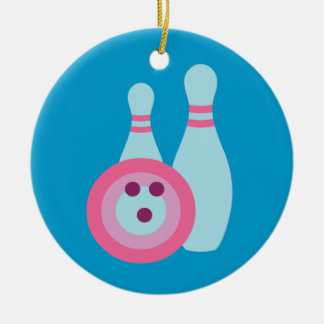 Bowling Ball and Pins Christmas Ornament