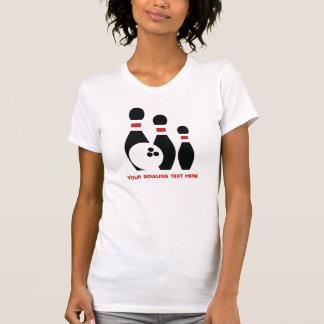 Bowling ball and pins custom T-Shirt