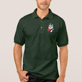 Bowling Ball and Pins Polo Shirt