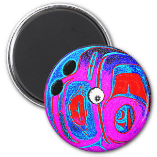 BOWLING BALL GONE CRAZY MAGNET