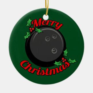 Bowling Ball Merry Christmas Christmas Ornament