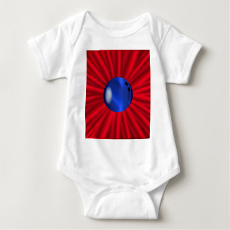 Bowling Ball Over Red Baby Bodysuit