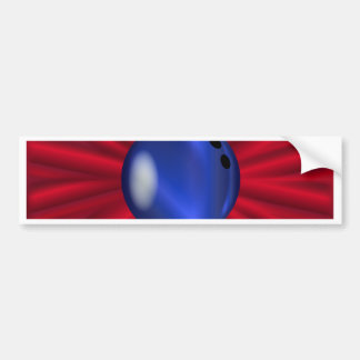 Bowling Ball Over Red Bumper Sticker