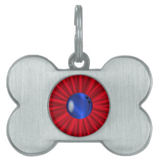 Bowling Ball Over Red Pet ID Tag