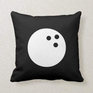 Bowling Ball Pictogram Throw Pillow