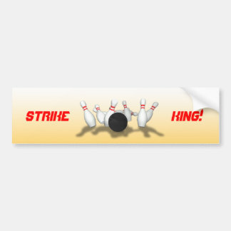 Bowling Ball & Pins: 3D Model: Bumper Sticker
