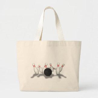 Bowling Ball & Pins: 3D Model: Large Tote Bag