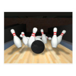 Bowling Ball & Pins: 3D Model: Post Card