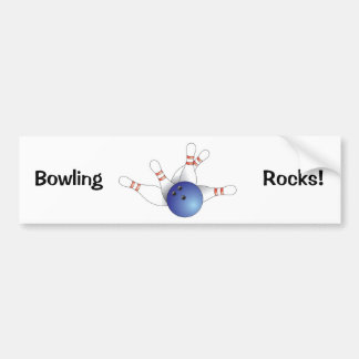 Bowling Ball & Pins Bumper Sticker
