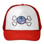bowling ball Skull and Crossbones Mesh Hat