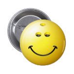 Bowling Ball Smiley Face 6 Cm Round Badge