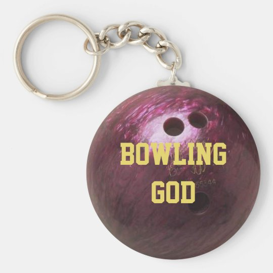 Bowling Ball Texture Personalised Keychain
