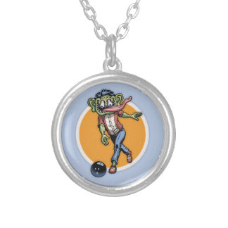 Bowling Benny Round Pendant Necklace