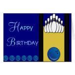Bowling Birthday Greeting Card