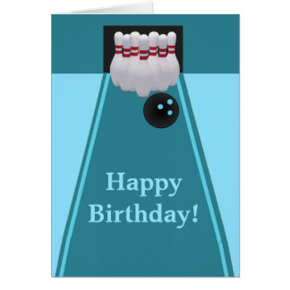 Bowling Birthday Greeting Card