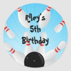 Bowling Birthday Party Favour Labels