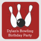 Bowling Birthday Party Favour Stickers
