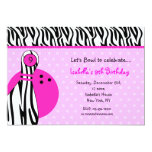 "Bowling Birthday Party Invitations 5"" X 7"" Invitation Card"