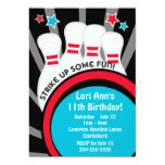 Bowling Birthday Party Personalized Invitation